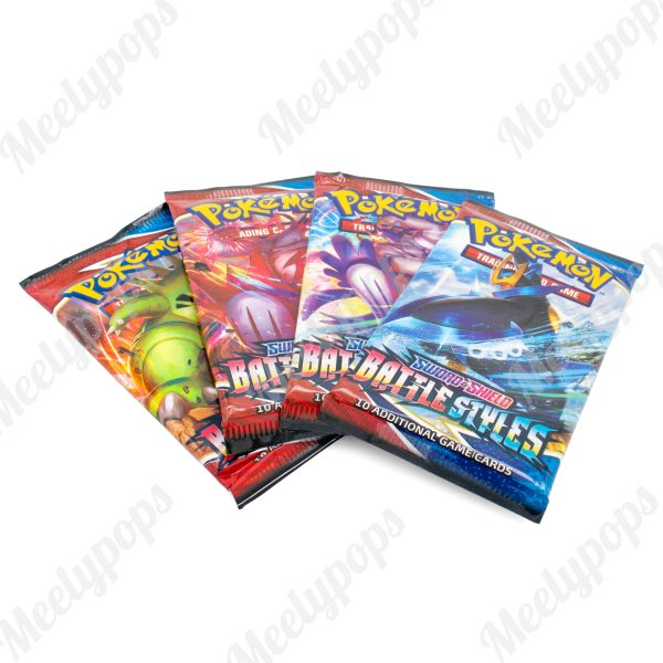 Pokemon Sword and Shield Battle Styles 4 Booster pack lot