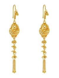 22Kt Gold Fancy Earrings - ErFc4648 - 22Kt Gold Earrings ...