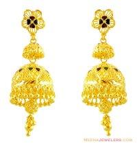 22K Meenakari Jhumka Earrings - ErFc14249 - 22Kt Gold ...