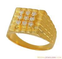 22K Gold Mens Ring (indian design) - RiMs9459 - 22Kt Mens ...