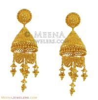 22k Exclusive Chandelier Earrings - ErFc11120 - 22k gold ...