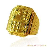 Indian Gold Mens 22K Ring - RiMs14880 - 22K Gold handmade ...