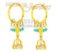 22 Kt Gold Earrings for Babies - ErHp1279 - 22 Kt Gold ...