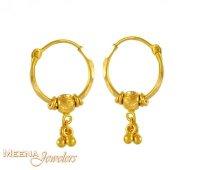 22K Gold Hoops - ErHp3081 - 22K Gold Hoops (earrings) for ...