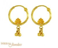 22K Gold Hoops - ErHp3092 - US$ 91 - 22K Gold Hoops for ...