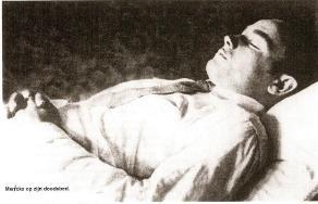 Gaston Merckx op zijn Doodsbed
