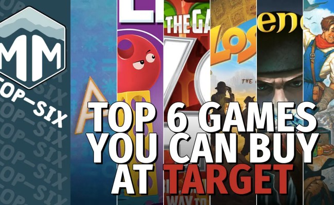 Top 6 Games You Can Buy At Target Meeple Mountain