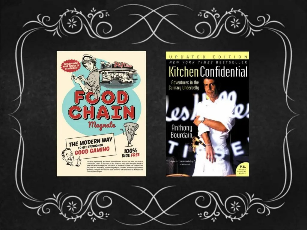 kitchen confidential book remodel on a budget board games and books perfect companions meeple mountain