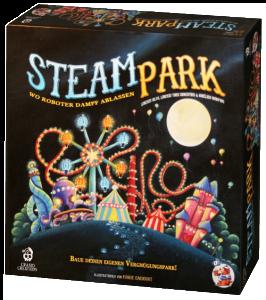 SteamPark. Caja del juego
