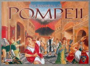 La caída de Pompeya. Caja del juego.
