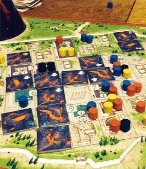 La caída de Pompeya. La lava causando estragos...