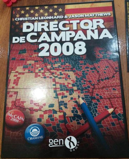Director de Campaña 2008. Caja del juego