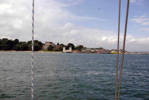 Poole Castle innerhalb Poole Harbour
