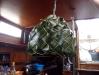 Unsere neue Lampe aus einem Palmwedel