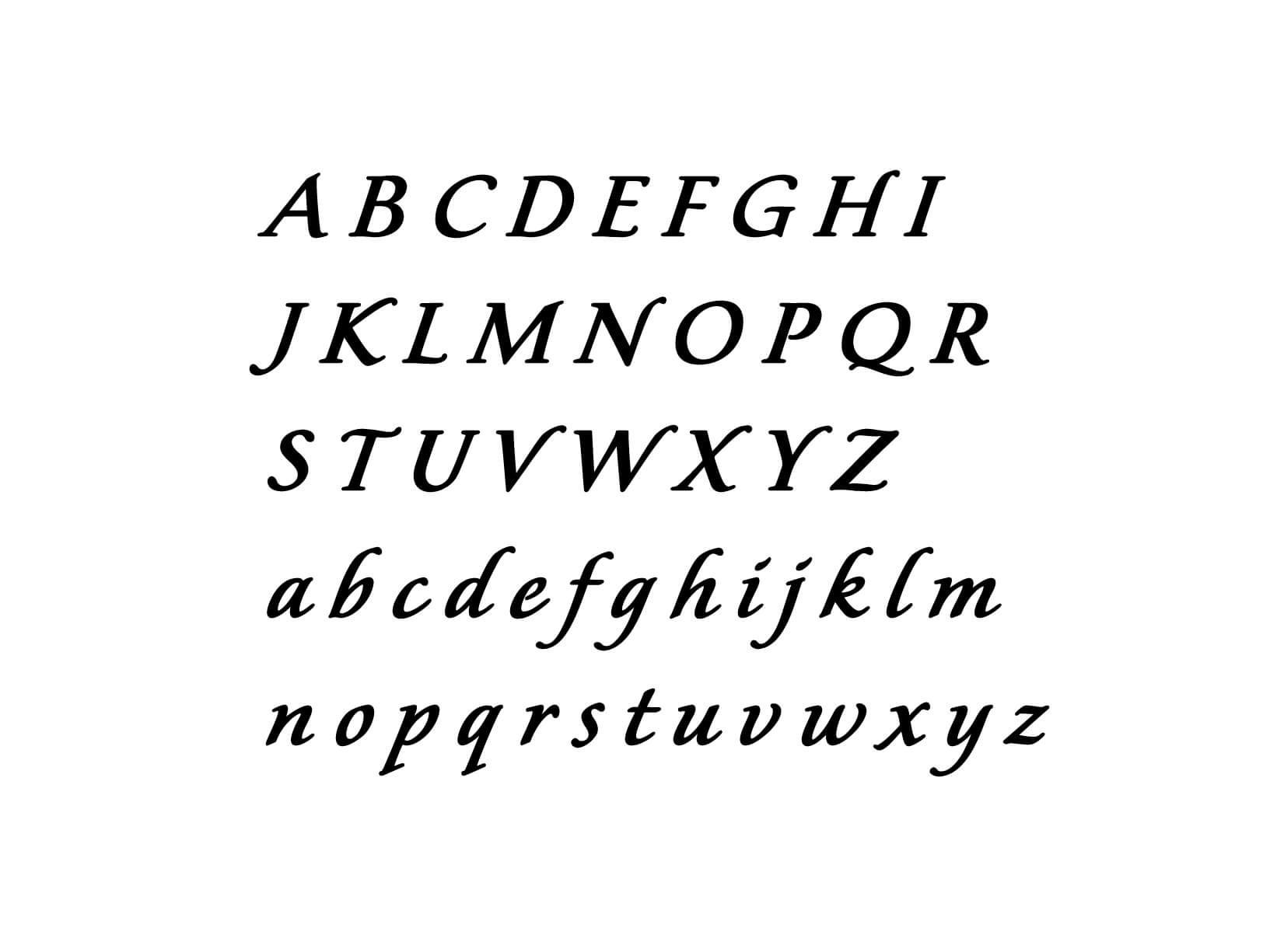 Muursticker Alfabet type 5