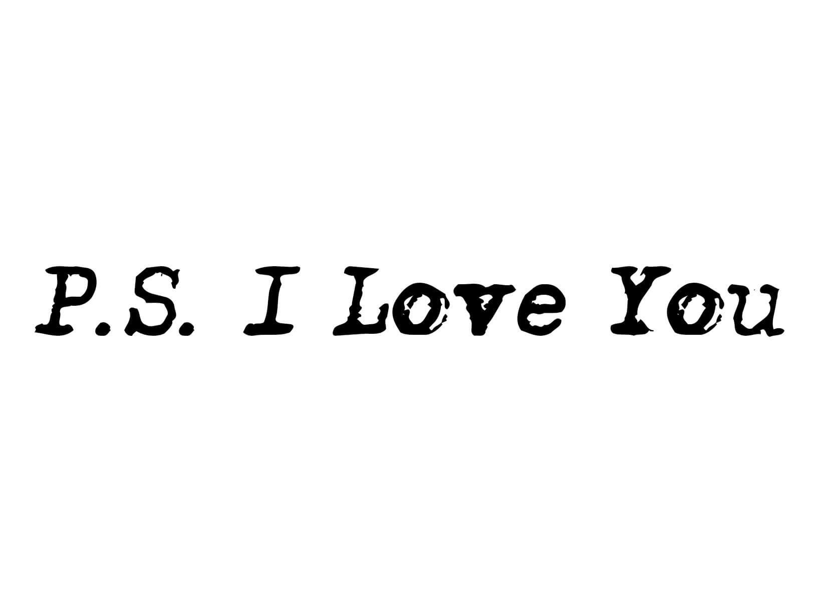 Muursticker PS I Love You