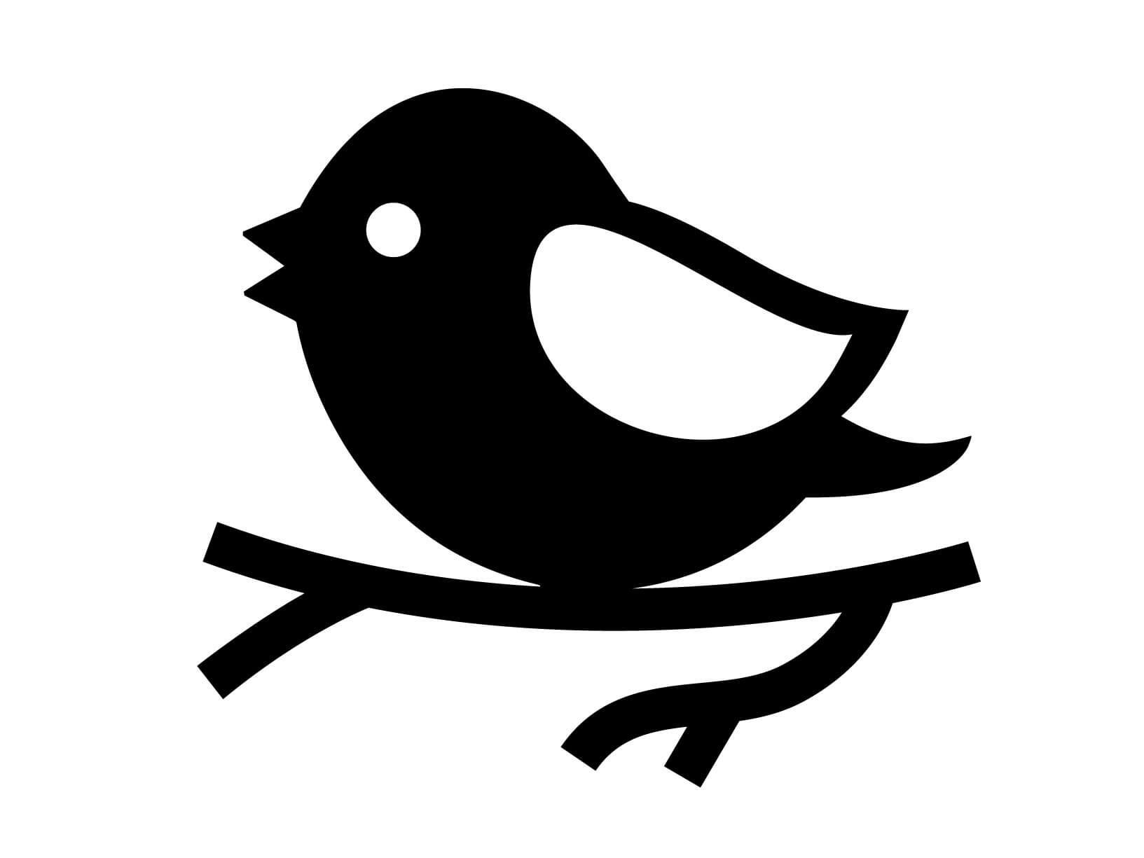 Muursticker vogeltje op tak