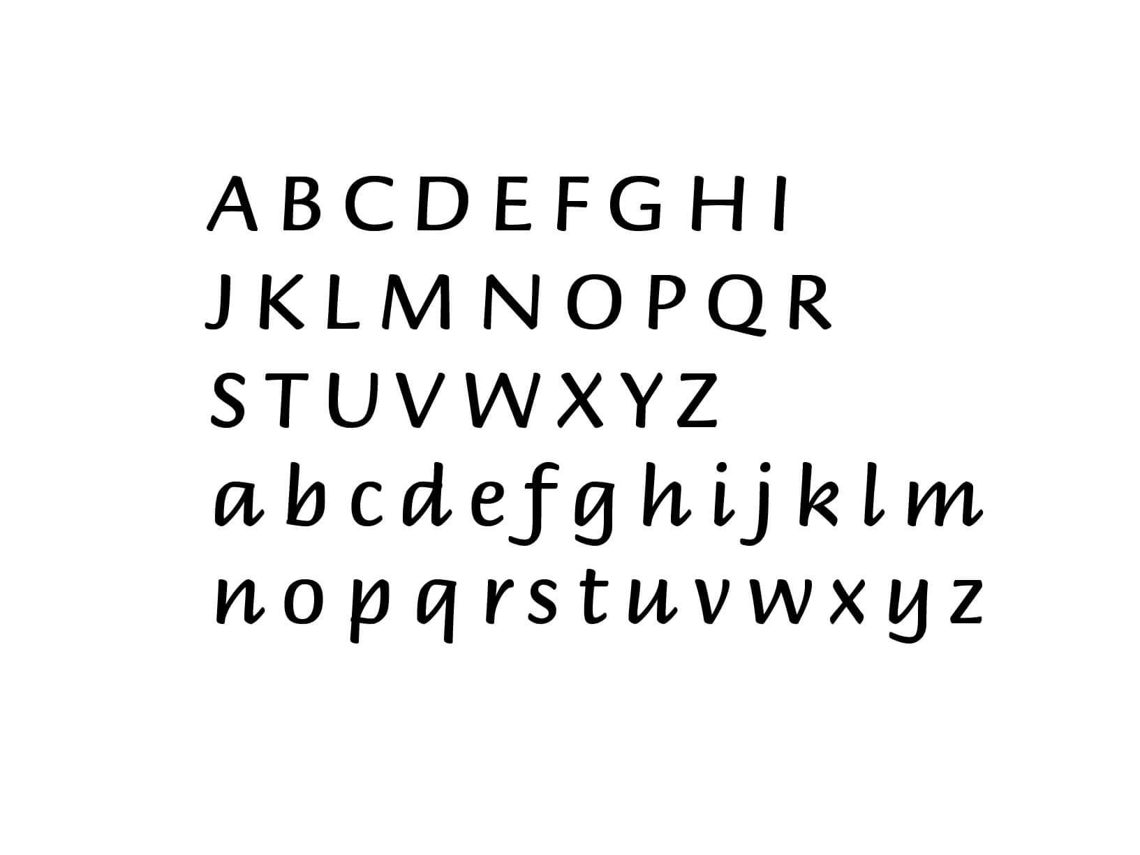 Muursticker Alfabet type 2
