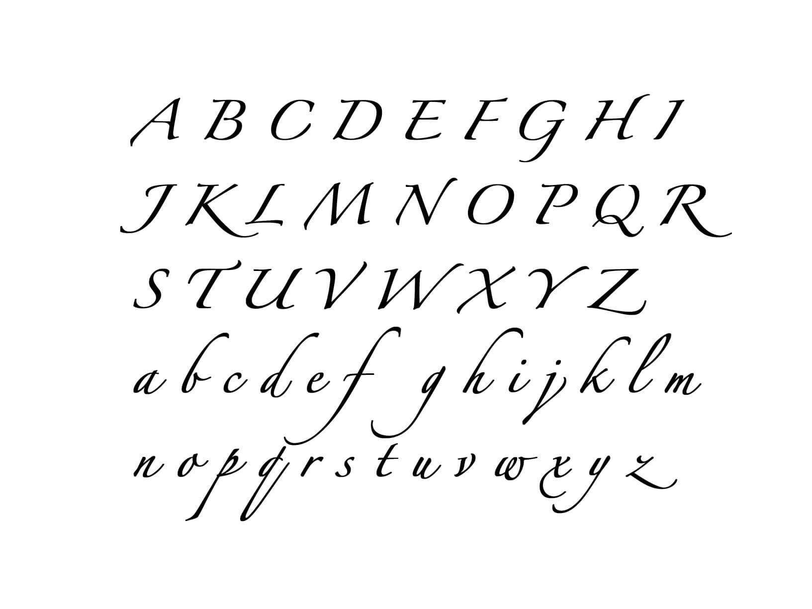Muursticker Alfabet type 6