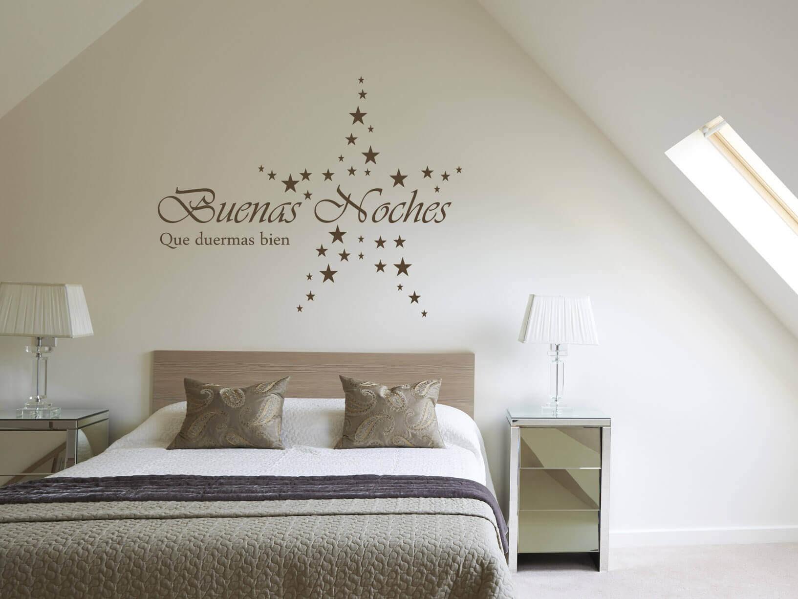 Muursticker Buenas Noches Que duermas bien met sterren