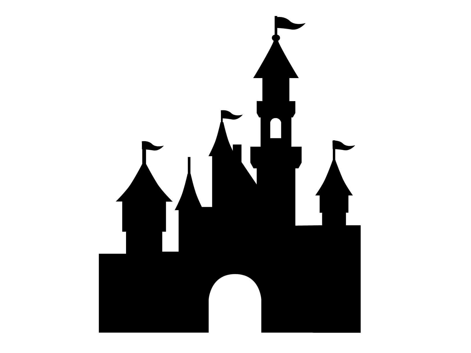 Krijtbord muursticker kasteel