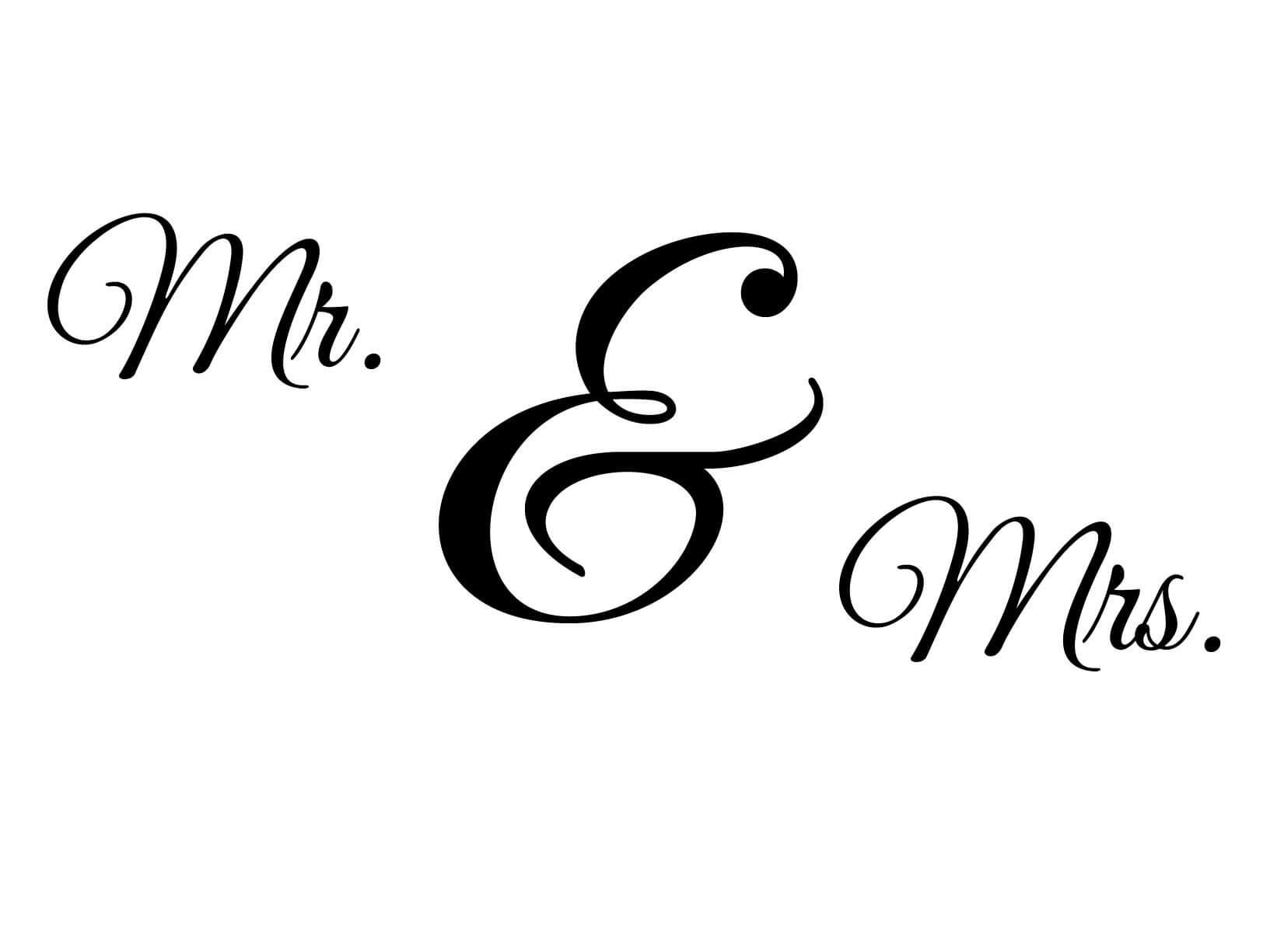 Muursticker Mr  Mrs