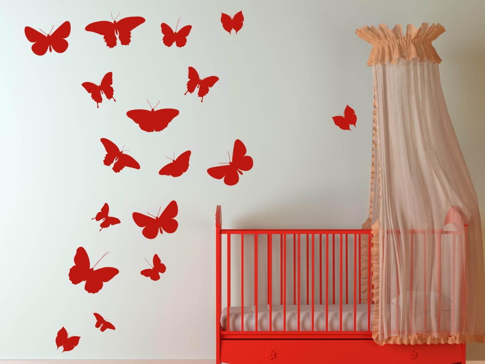 Muursticker vlinders  Dieren  bloemen muurstickers