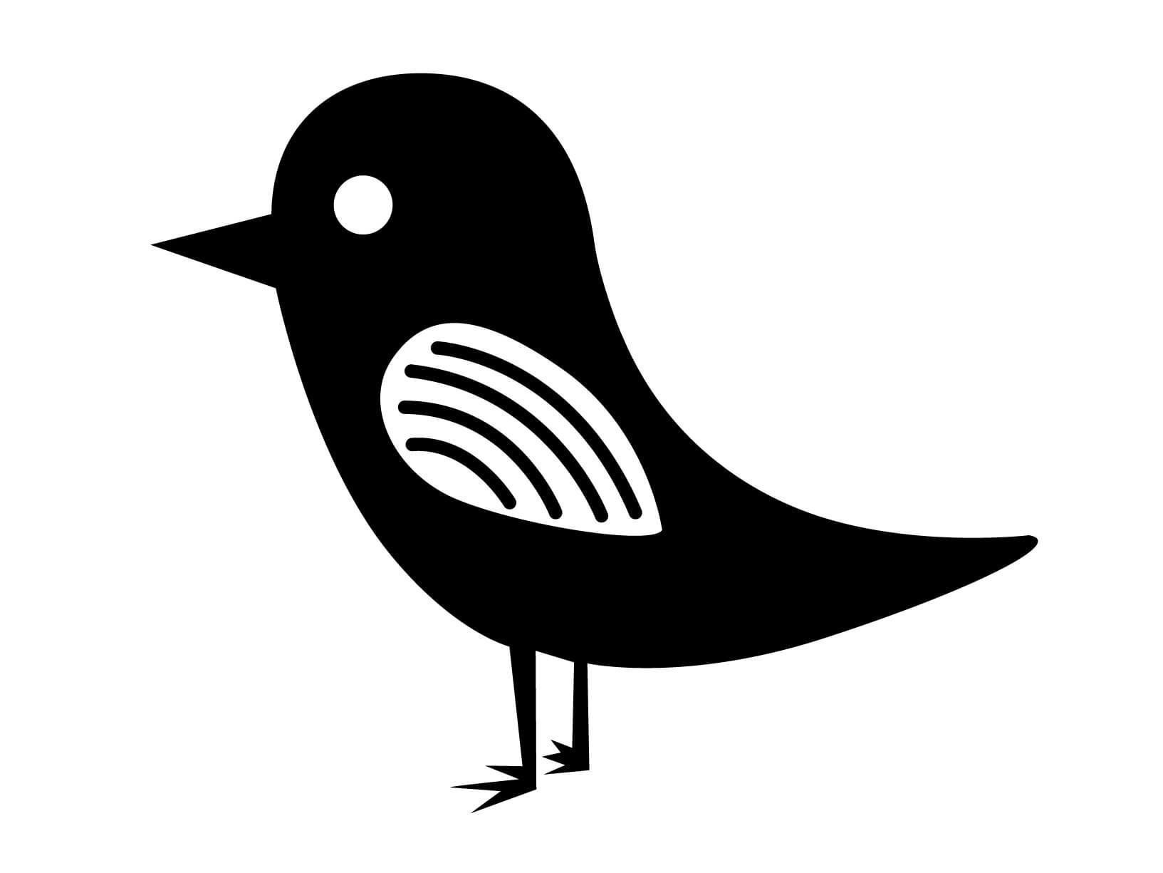 Muursticker vogeltje