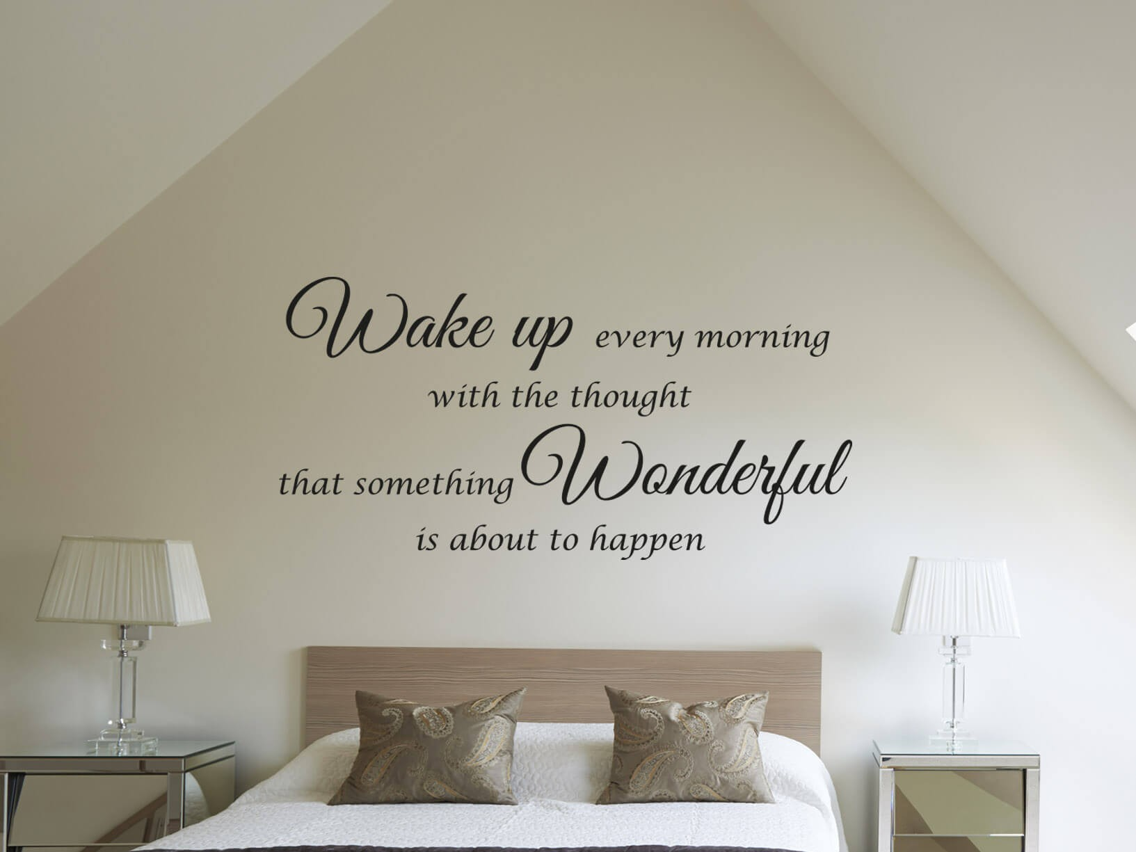 Muursticker Wake up every morning  Slaapkamer muurstickers