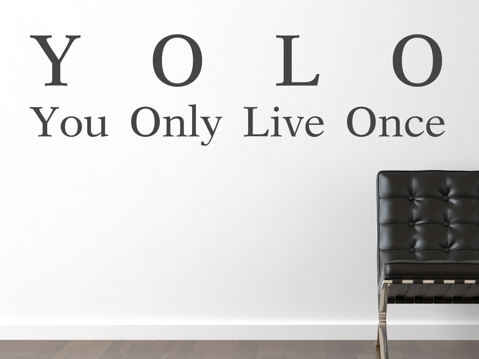 Muursticker YOLO You Only Live Once