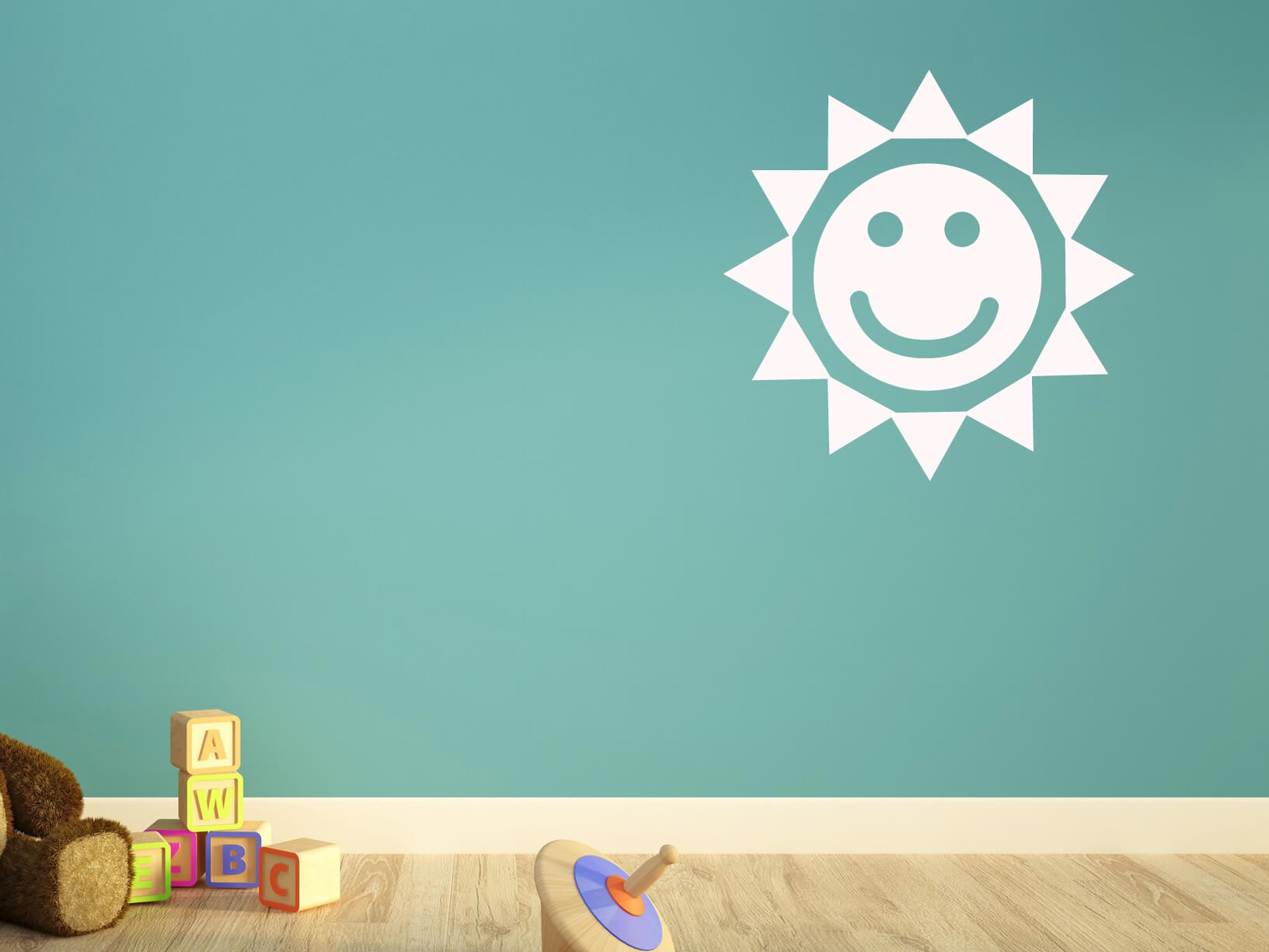 Muursticker zon  Kinderkamer muurstickers