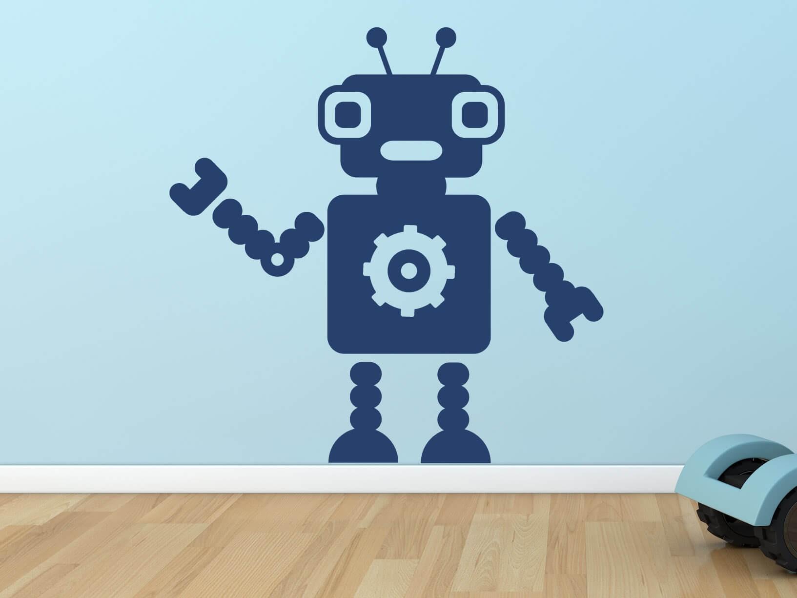 Muursticker robot 6  Kinderkamer muurstickers