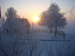 De zon aan de overkant