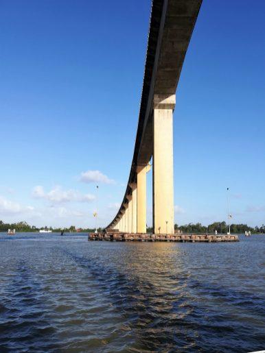 De eerste brug in 23 dagen