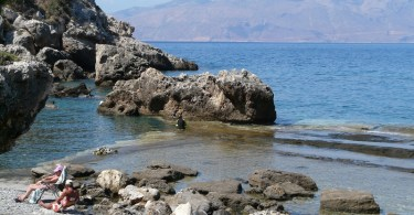 Ravdoucha beach - natural swimming pool in Ravdoucha Crete