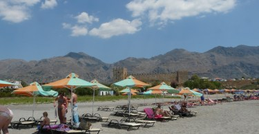 beach at Frangokastello Crete