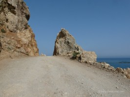 Road to Gialiskari beaches Paleochora Crete
