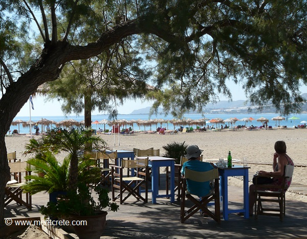 Morning coffee at the beach in Paleochora Crete