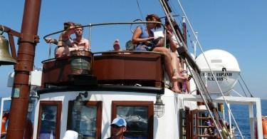 on the boat to Thodorou island Crete