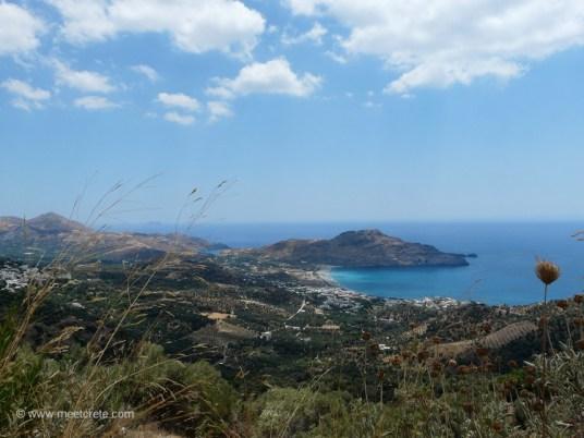 View to the village Plakias