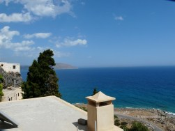 The view from the monastery Kapsa to the Libyan Sea is breathtaking