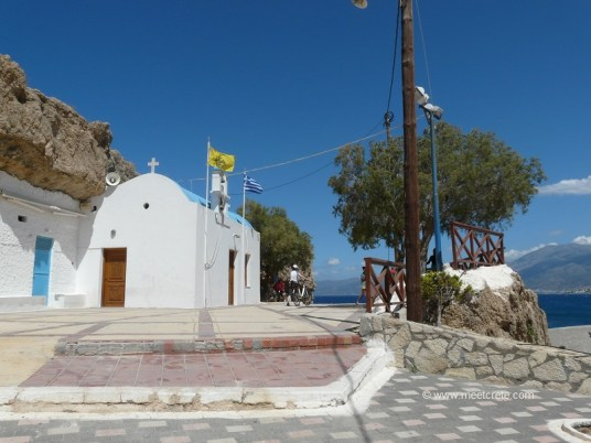 """The church of Aghia Paraskevi at the hill of """"Kefala"""" in Hersonissos Crete"""