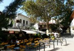 village square in Spili Crete