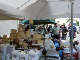 Street market locations in Crete's main towns