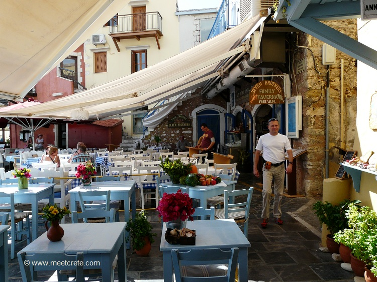 In the old town of Rethymnon Crete