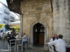 The coffee house at the Bembo Fountain in Heraklion city, Crete's capital