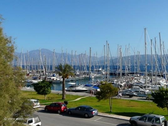 Yacht marina in Agios Nikolaos Crete