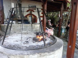 Antikristo on the spit at the springs of Argyroupoli Crete