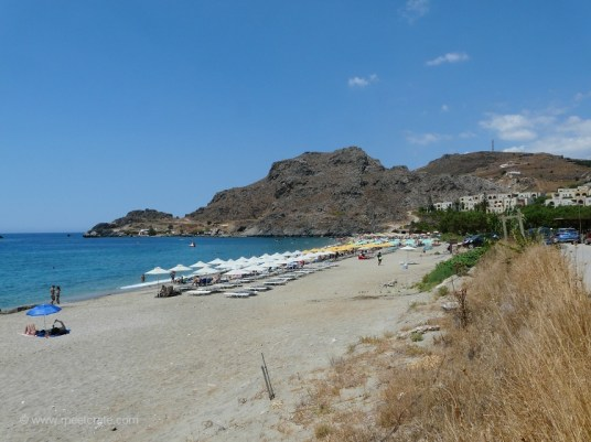 The beach of Damnoni east of Plakias