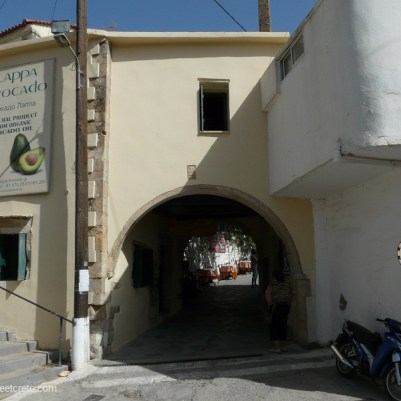 Old town entrance In Argyroupoli village Crete